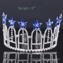 Royalblue Blume Crown Rhinestone Tiara Kristall Kronen für Party